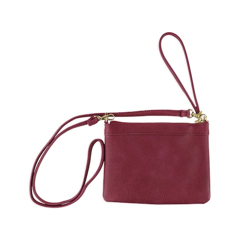 Aeropostale Womens Faux Leather Clutch Handbag Purse - Extra Small (16 in. & Under)