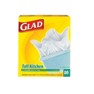 Glad 60034 Tall Kitchen Trash Bags, 13 Gallon, 80 bags