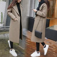 New thick loose loose long woolen coat