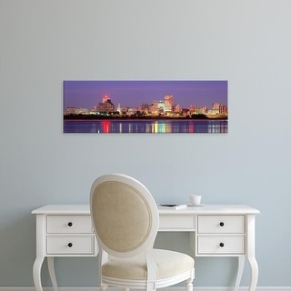 Easy Art Prints Panoramic Images's 'Dusk, Memphis, Tennessee, USA' Premium Canvas Art