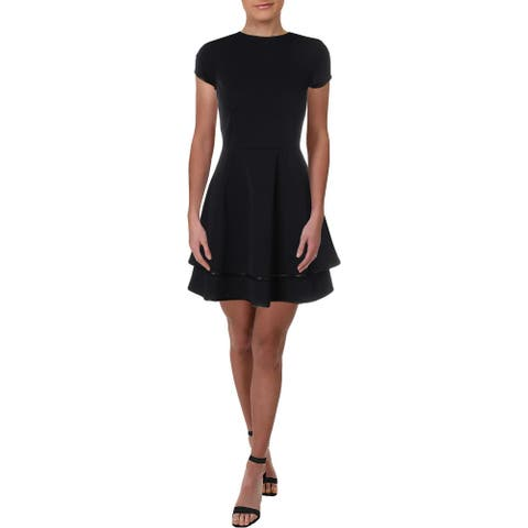 Necessary Objects Womens Party Dress Tiered Mini - Red - M