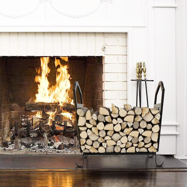 Shop Fireplace Log Holder Wrought Iron Indoor Fire Wood Rack
