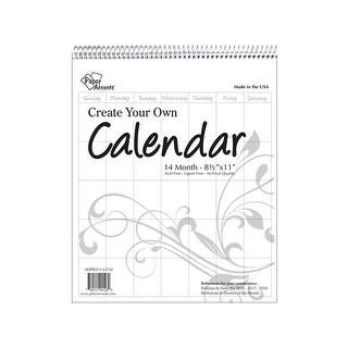 CYO Calendar 8.5x11 14 Month Portrait Blank White
