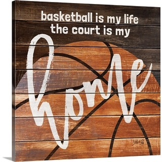 """Basketball Home"" Canvas Wall Art"