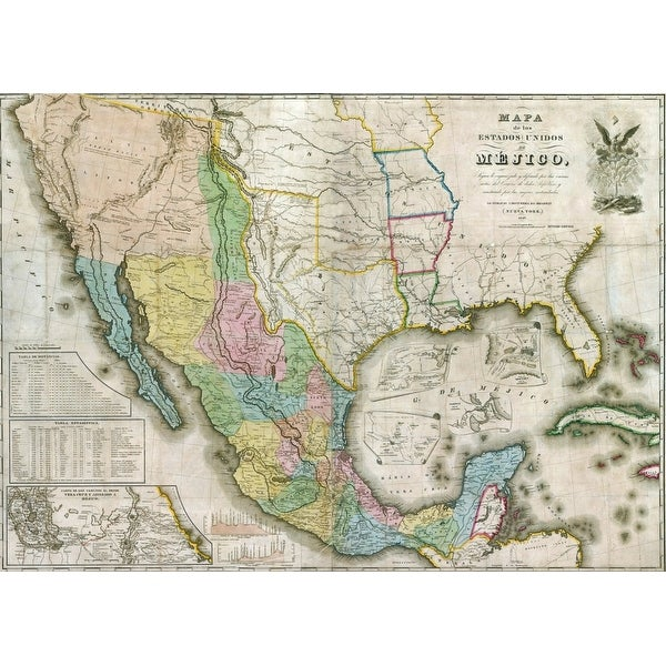 Shop Western North America During The Mexican American War Which - Us-map-before-mexican-american-war