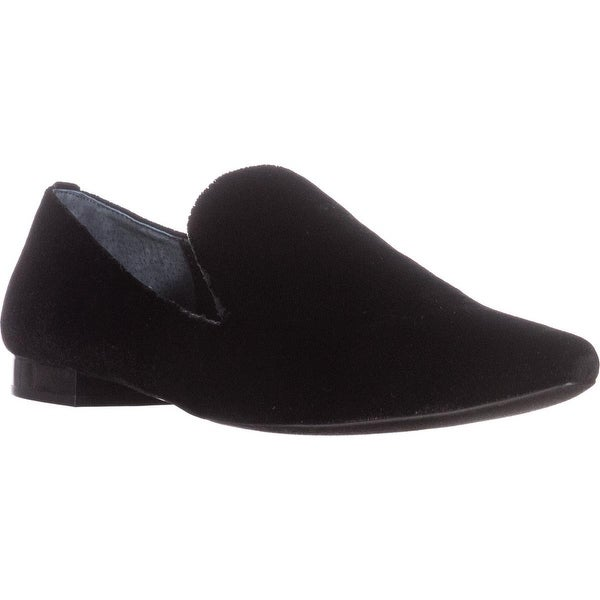 Calvin Klein Elin Pointed Toe Loafer Flats, Black Velvet - 9 us / 39 eu