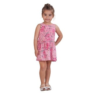 Pulla Bulla Toddler Girl Floral Style Sleeveless Dress