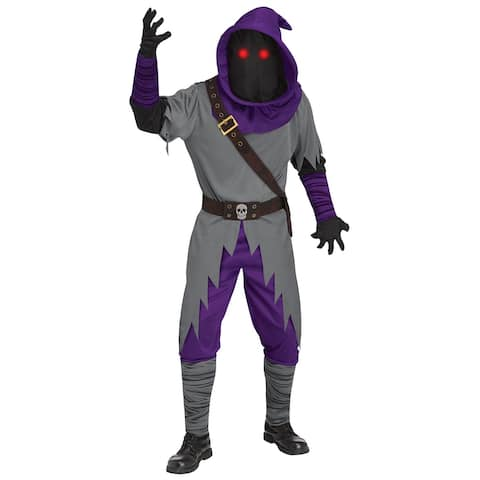 Fun World Mage Fade In/Out Adult Costume - Purple/Grey