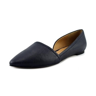 Franco Sarto L-Spiral Women Pointed Toe Leather Blue Flats