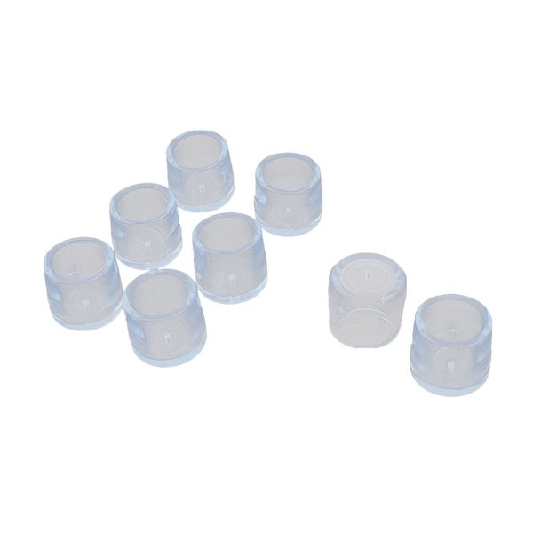 Unique Bargains 8 Pcs Antislip Rubber Round 25 mm Chair Foot Cover Table Furniture Leg Protector Clear Blue