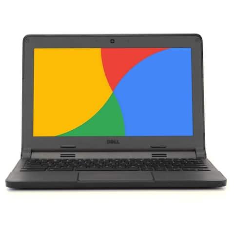 "Dell Chromebook 11.6"" Laptop Computer Intel Dual Core 4GB 16GB SSD WiFi Grade B"
