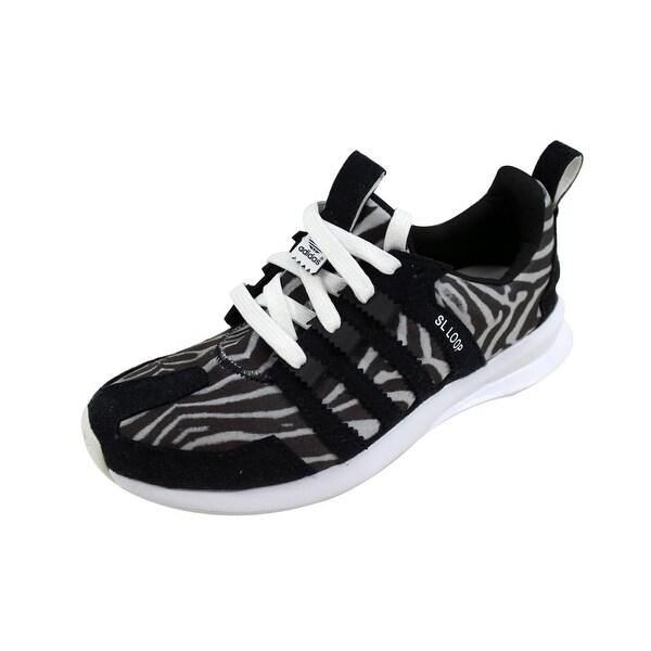 Shop Adidas Women s SL Loop Runner Black Black-White C75348 Size 6 ... a550ac89d3