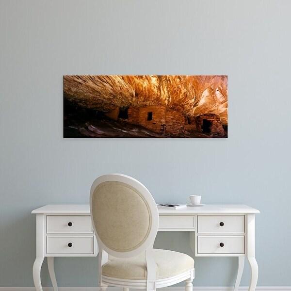 Easy Art Prints Panoramic Image 'Ruined of an ancient fire house, Cedar Mesa, San Juan County, Utah, USA' Canvas Art