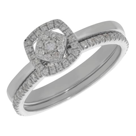 Prism Jewel 0.30Ct Round G-H/I2 Natural Diamond Bridal Sets