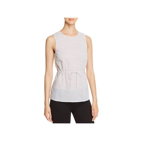 Kenneth Cole Womens Blouse Woven Striped