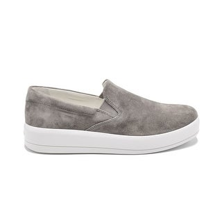Womens Prada Grey Suede Slip on Skater Sneakers Size 39.5 / 9.5
