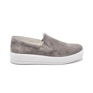 Womens Prada Grey Suede Slip on Skater Sneakers Size 40 / 10