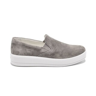 Womens Prada Grey Suede Slip on Skater Sneakers Size 9
