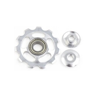 11T Aluminum Alloy Rear Wheel Derailleur Pulley Bearing Silver Tone for Bike