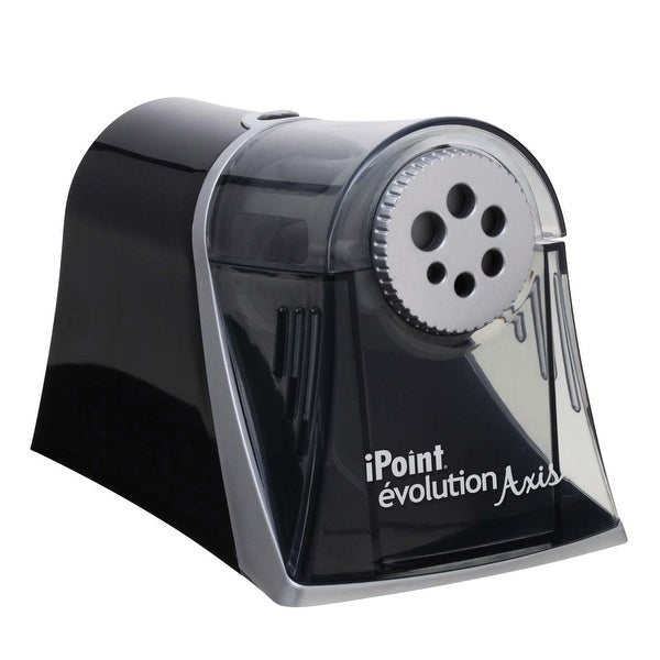 Westcott iPoint Evolution Axis Electric Heavy Duty Multi Pencil Sharpener, Black/Silver