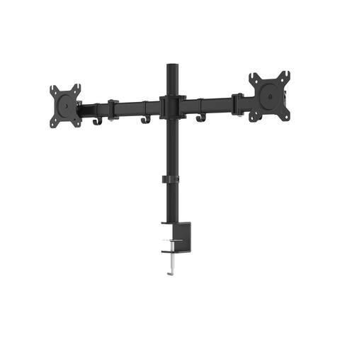 Monoprice Essential Dual Monitor Articulating Arm Desk Mount 180° Swivel, 360° Rotation