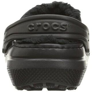 Crocs Boys Classic Lined Faux Fur Lined Clogs