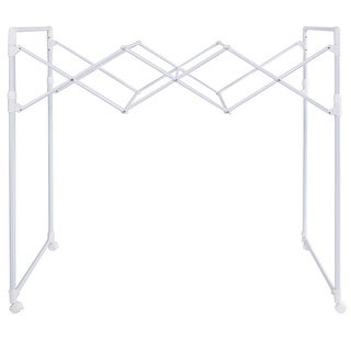Costway Heavy Duty Portable Folding Drying Rack Sheet Hanger Rolling Laundry Clothes