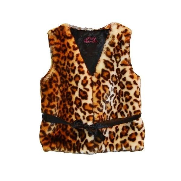 e4bdee021c9 Shop Girls Brown Leopard Faux Fur Vest 7-12 - Free Shipping On ...