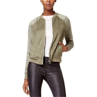 Link to Kensie Womens Faux Suede Bomber Jacket Similar Items in Women's Outerwear