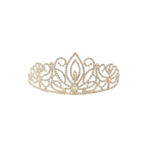 Girls Women Silver Rhinestone 4 Inches Tiara
