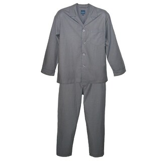 Majestic International Men's Cotton Long Sleeve Long Leg Pajama Set