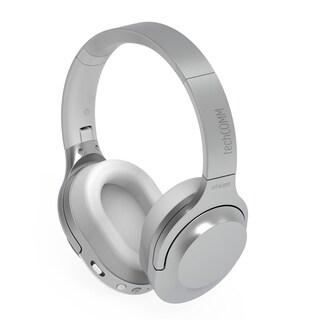 TechComm Clef Wireless Bluetooth CSR Foldable Headphones (Option: Silver)