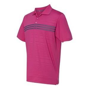 742e920bb8cc6 Adidas Golf Puremotion 3 Stripes Chest Sport Shirt - Magenta/ Lead - XL