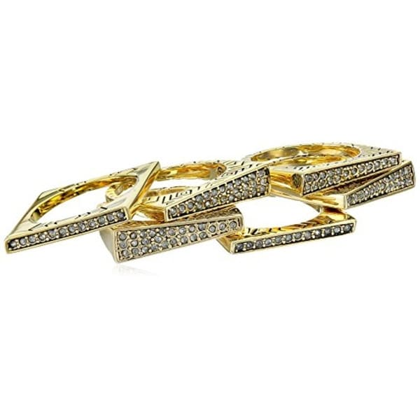 House of Harlow by Nicole Richie Womens Kinetic Statement Ring 6PC Stackable