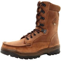 "Rocky Outdoor Boots Mens 8"" Outback WP Hiker Light Brown"