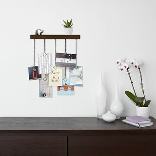 "Umbra 1004397  Cascade 14 1/4"" Wide MDF Wall Mounted Picture Holder by Sung Wook Park - Aged Walnut"