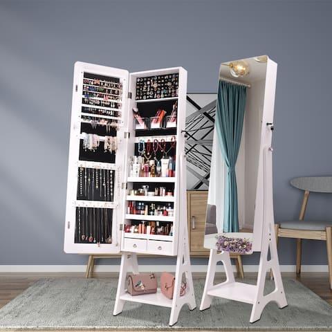 Full Mirror Makeup Cabinet Storage Jewelry Mirror Cabinet