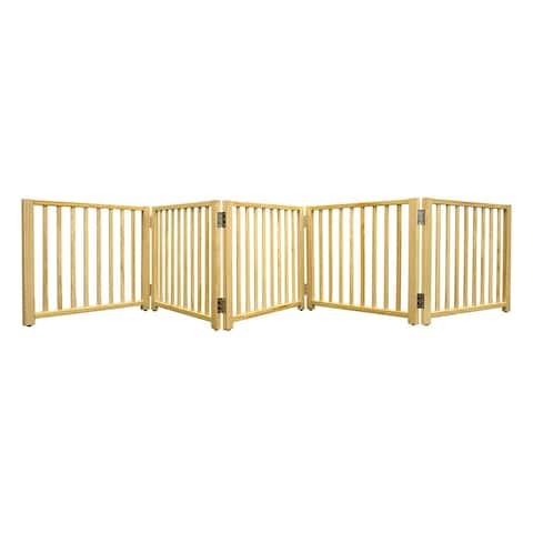 Four Paws Smart Design Folding Freestanding Gate 5 Panel