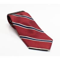 Black Brown 1826 NEW Red Blue Mens One Size Striped Woven Neck Tie