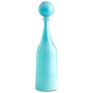 Cyan Design Small Lyla Container Lyla 22 Inch High Glass Decanter - Sky Blue