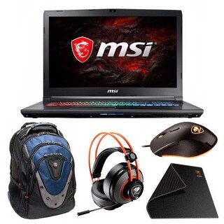 "MSI GP72X LEOPARD Core i7-7700HQ 17.3"" FHD 3Ms GTX1050 Gaming Laptop Bundle"