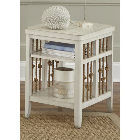 Dockside II White Chair Side Table