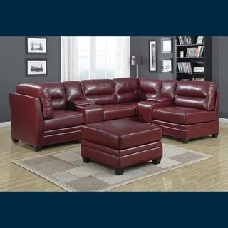 Monarch Specialties Armless Bonded leather accent chair II Armless Bonded Leather Sectional Occasional Accent Chair