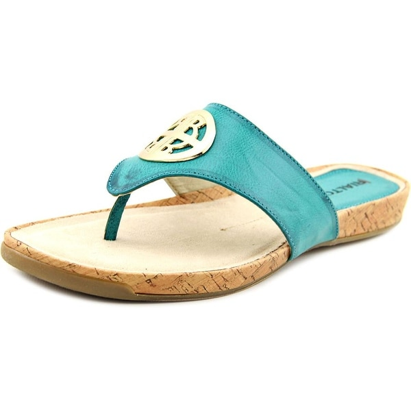 Rialto Calista Women  Open Toe Leather Blue Thong Sandal