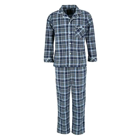 Ten West Apparel Men's Flannel Long Sleeve Pajama Set