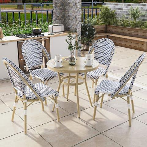 Furniture of America Ariel Natural Tone 32-inch 5-piece Bistro Set