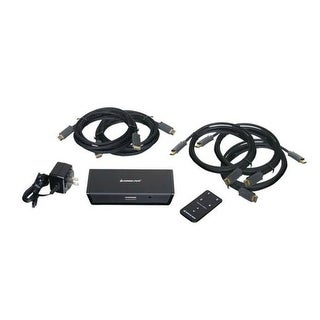 IOGEAR GHDSW4KIT 4-Port HD Audio-Video Switch with Remote and Cables
