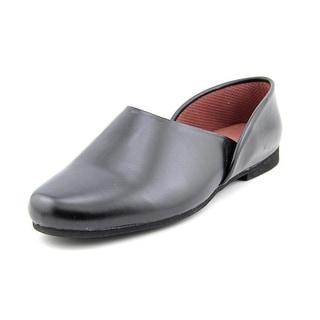 Slippers International Opera Men B Round Toe Leather Black Slipper