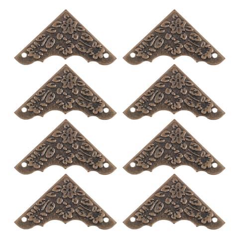 "Box Corner Protectors Guard Edge Corner Cover Furniture Decor, Bronze Tone 8pcs - Bronze Tone - 8pcs/1.5"" x 1.5"""