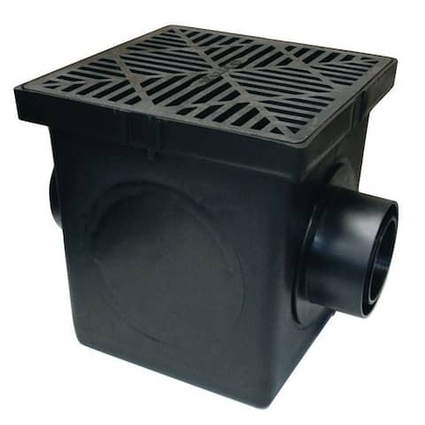 NDS 900BKIT Basin Kit With Grate, Black, Polyethylene